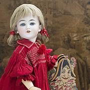 "21"" (54cm) Antique German Bisque Santa child doll 1249 DEP in original dress"