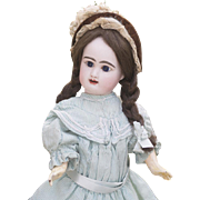 "16 1/2"" (42cm) Antique French Bisque bebe doll by Rabery & Delphieu in original costume"