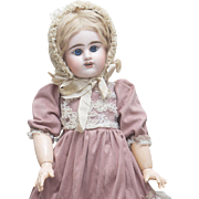 "21"" (53 cm) Antique French E.D. Blue Eyed Bebe Doll by Etienne Denamur size 8 Depose"