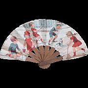 """Antique Paper doll fan from """"Les Grands Magasins du Louvre"""""""