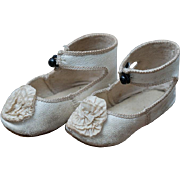 Antique Original French L.P. Shoes for Jumeau Steiner Bru Eden  Bebe and other french doll