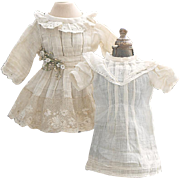 "Antique Original Dress and Chemise for Tiny Jumeau Bru Steiner Gaultier Bebe or german doll about 11-12"" tall"