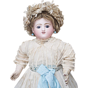 "20"" (51 cm) Antique French Mechanical Gigoteur Doll by Steiner, Kicking, Mama, antique dress"