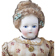 "11"" (28cm) Extremly Rare Antique All Original French Fashion Gaudinot & Popineau marked doll, c.1865"