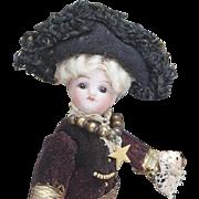 "5"" Antique All Original French Toreador All Bisque Mignonette doll"