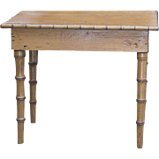 Antique French Doll Table from collection of Robert Capia, with label of his famous Paris boutique