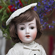"17 1/2"" (45 cm) Antique German German Bisque Child Doll, Revalo, by Gebruder Ohlhaver"