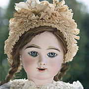 "24"" Very beautiful French Bisque Eden Bebe doll by Fleischmann & Blodel, Depose Model with Angelic Face"