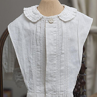 Antique Original Huret early fashion  false shirt front for enfantine dress gown