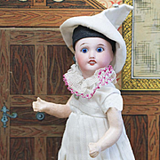 "7"" (18 cm) Antique French All original Columbine doll SFBJ 301, c.1900"