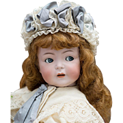 "24"" (61 cm) Rare Antique German 616 Simon & Halbig Character doll with flirty eyes, antique  costume!"