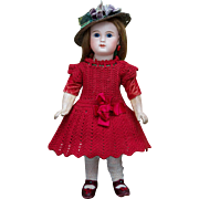 12 in (30 cm)  Antique French Tiny Bisque Bebe Doll with closed mouth, Figure A, by Jules Steiner, c.1885