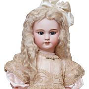 "27"" (68 cm) Very Pretty Antique French Bisque Bebe DEP doll, Jumeau / SFBJ, circa 1900."