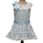 """Antique Original Cotton Lace dress and Chemise for Jumeau Bru Steiner E.J., other bebe or German doll about 26-27"""""""