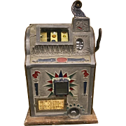 Vintage Slot Machine One Arm Bandit Mills 5 Cent