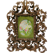 Black Forest Hand Carved Picture Frame