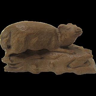 Black Forest  Hand Carved Animal Carving