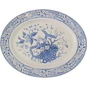 """Oval Wedgwood Platter Blue and White """"Betrice"""""""
