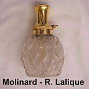 "Molinard ""Habanito"" Perfume Atomizer with Bottle by Lalique - Circa 1950"