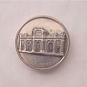 915 Silver Souvenir Pill Box of Madrid's Puerta de Alcala
