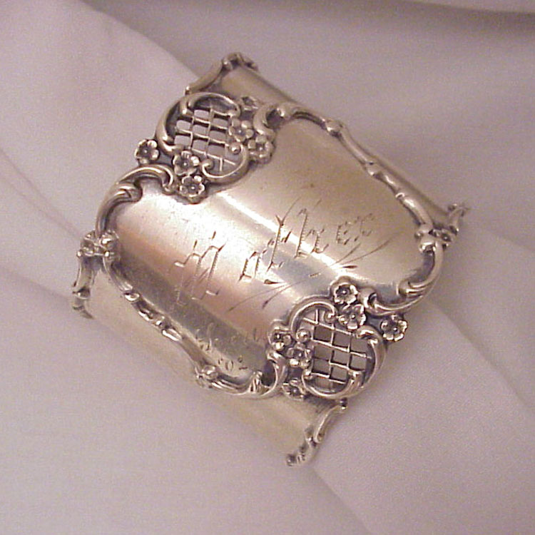 "Sterling Napkin Ring # 8668  for ""Mother"" - Dated 1902"