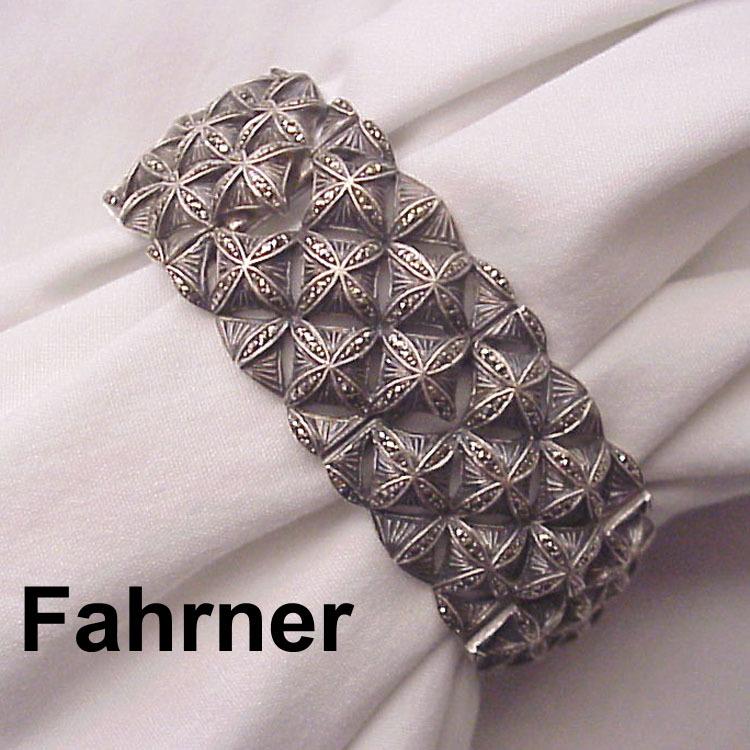 Theodor Fahrner Sterling & Marcasite Bracelet - Circa 1935