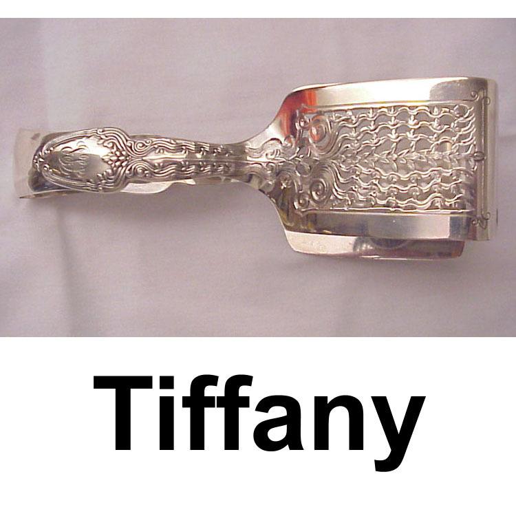 Tiffany Broom Corn Sterling Asparagus Tongs