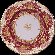 Spode - Jeweled Copelands China Dinner Plate - Circa 1895
