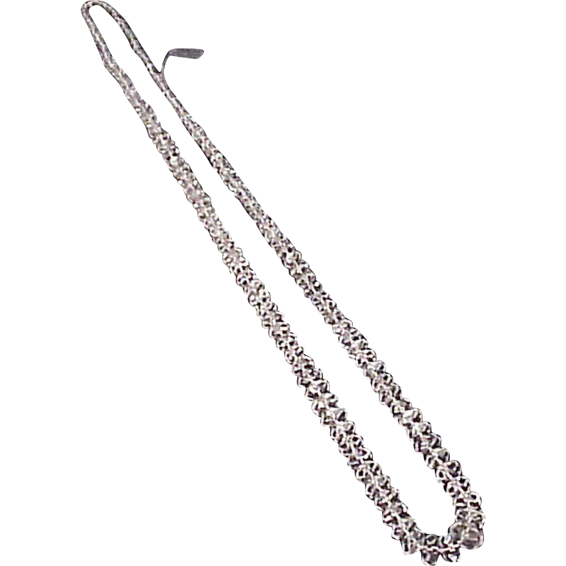 "Cut and Faceted Rock Crystal 19 1/2""Long Necklace - Circa1910"