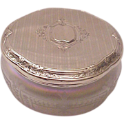 R. Blackinton & Co. Sterling & Verre De Soie Dresser Jar - Circa 1925