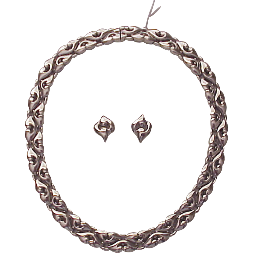 Bvlgari Bulgari Platinum Nuvole Necklace and Earrings