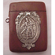 Shreve & Co. Fireman's Fund 1915 Christmas Match Safe