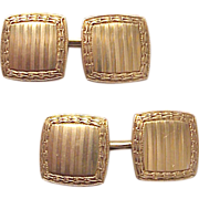 Carring Co. 14kt. Yellow Gold Cufflinks - Circa 1925