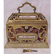 Sevres Perfume Casket With Key & Original Bottles Circa 1825