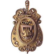 Victorian Etruscan Revival 14Kt. Two Tone Gold Locket - Circa 1875