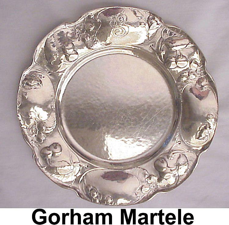 Stunning Gorham Silver Martele Plate