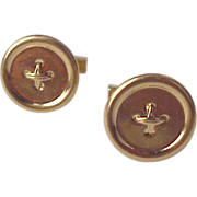 Tiffany & Co. 14kt. Gold Cuff Links / Cufflinks - Circa 1960