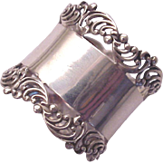 Frank M. Whiting Co. Sterling Open Work Border Napkin Ring # 314 - Circa 1905