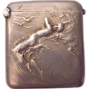 French Silver Match Safe /Matchsafe of Venus Rising from the Sea - Circa 1900