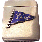 Yale University Sterling and Enamel Match Safe / Matchsafe by L. Fritzsche & Co.  - Circa 1905