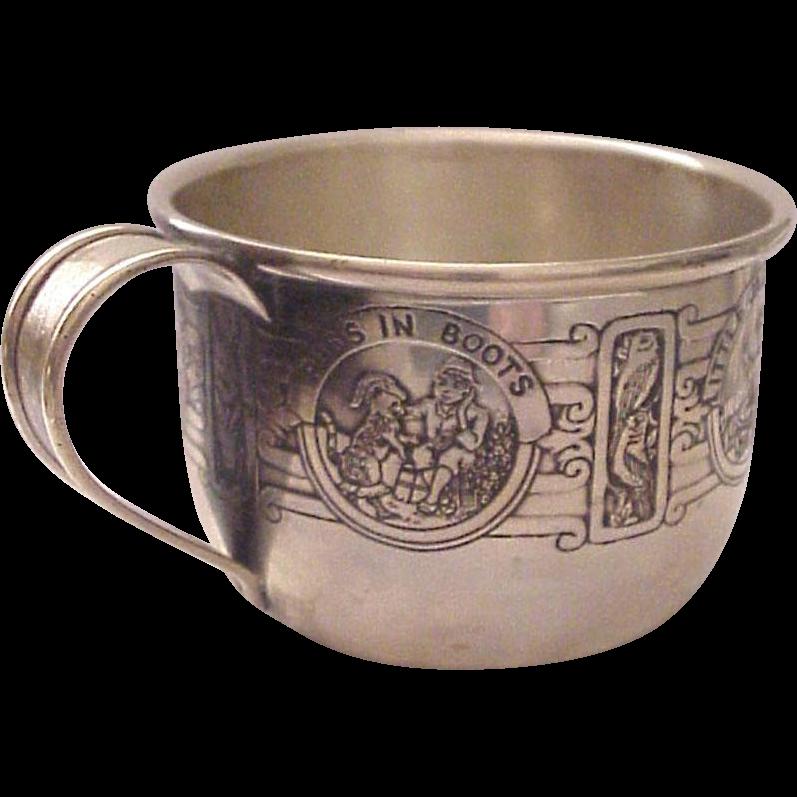 Kerr Sterling Nursery Rhyme Baby Cup  # 90 A 55 - Dated 1927