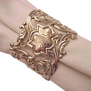 Whiting Mfg. Co. Sterling Pierced Art Nouveau Napkin Ring - Circa 1905