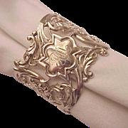 Whiting Mfg. Co. Sterling Pierced Art Nouveau Napkin Ring - Circa 1905