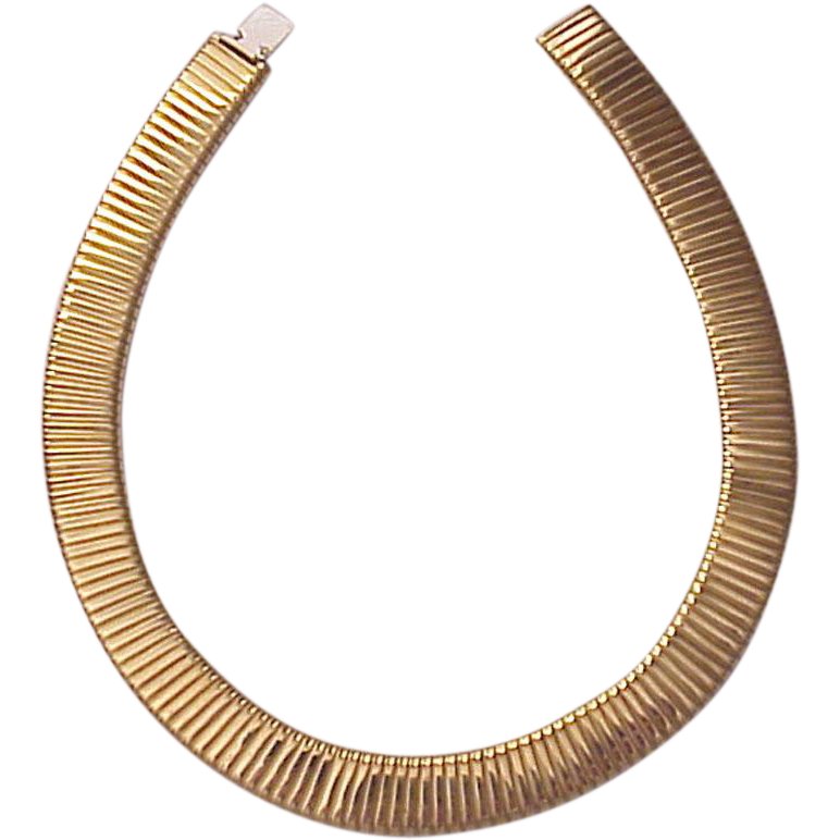 Carlo Weingrill Hand Made 'Turbogas' 18Kt. Gold Collar Necklace - Circa 1975