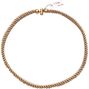 Two Color 14kt. Gold Spiral Necklace
