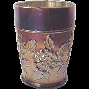 Dugan Rambler Rose Carnival Glass Tumbler - Circa 1915