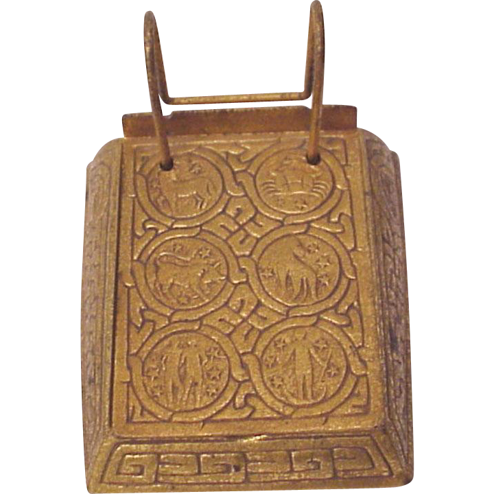 Tiffany Studios Zodiac Note Pad Holder # 1093 - Circa 1900