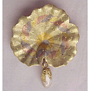 Fabulous Multi Colored 14kt. Gold Shell Pin With Cultured Baroque Pearl Accent