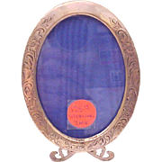 Small Victorian Sterling Oval Photo Frame - Circa 1900