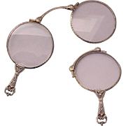 14kt. White Gold Lorgnette - Circa 1925